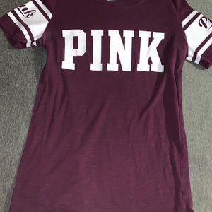 Maroon pink t-shirt